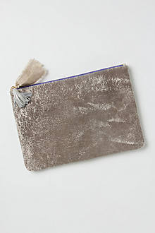 Gypsum Leather Pouch