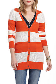 Rugby Pointelle Cardigan