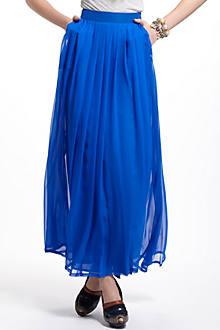 Aerophone Silk Maxi Skirt
