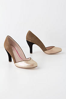 Metallic Hayden Pumps