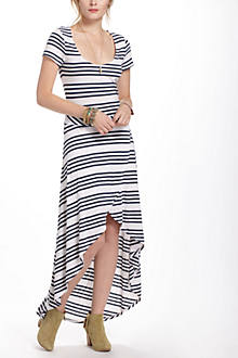 Scale-Striped Midi Chemise