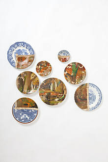 Autumn Woods Plate Collage
