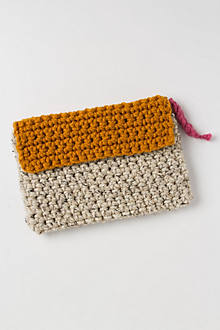 Handknit Colorblock Clutch