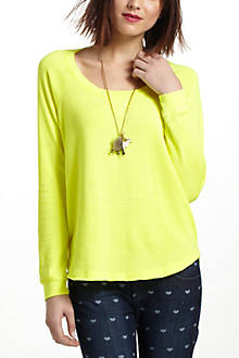 French Terry Shirttail Sweatshirt