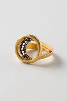Gilt Crescent Ring
