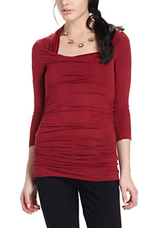 Ruched Sweetheart Top