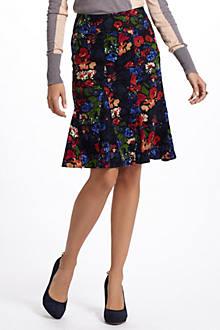 Nosegay Corduroy Skirt