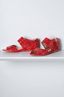 Geo Cut Patent Sandals