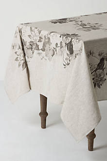 Grayscale Trellis Tablecloth
