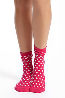 Mini-Dot Crew Socks