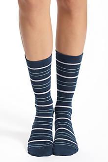 Striated Crew Socks