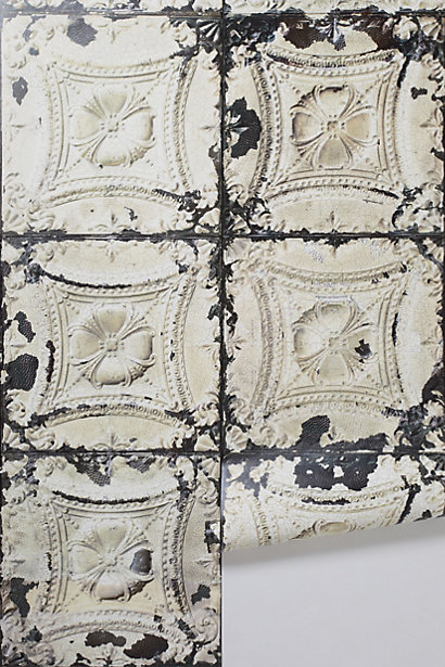 Sale alerts for Anthropologie Brooklyn Tins Wallpaper - Covvet