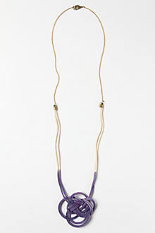 Dip-Dyed Knot Necklace