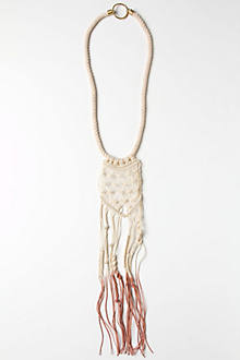 Trailed Macrame Necklace