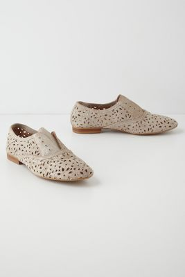 Dove gray oxfords with a lacy twist, $98 from @Anthropologie! @Anthropologie featured on shopalicious.com
