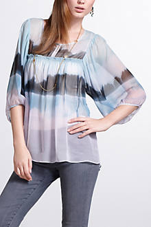 Hazy Woods Peasant Blouse