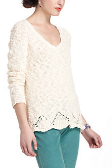 Peaked Pointelle Sweater