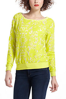 Flocked Chrysanthemum Sweatshirt