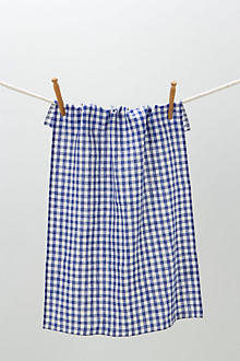 Cornflower Gingham Dishtowel