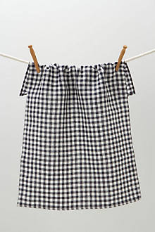 Navy Gingham Dishtowel
