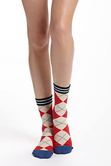 Stripetop Argyle Socks