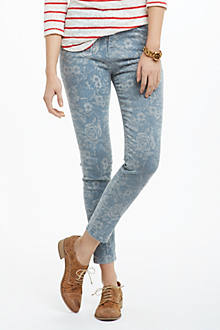 Current/Elliott The High Waist Crop Skinny Jeans