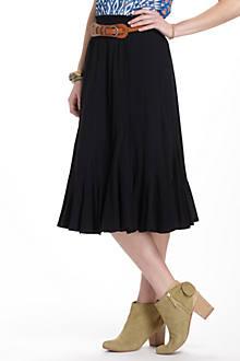 Frothed Godet Midi Skirt