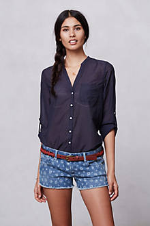 AG + Liberty Daisy Cut Off Jeans