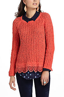 Lace Hem Pullover