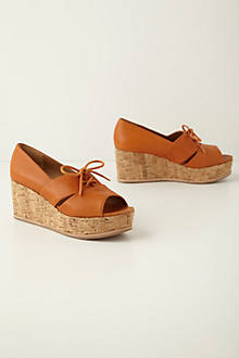 Oxford Peep-Toe Wedges