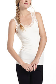 Ribbed Lace Camisole