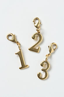Serif Number Charm