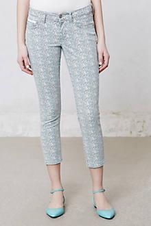 Pilcro Stet Slim Printed Crop Jeans