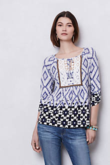 Splitneck Peasant Blouse