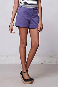 Cuffed Twill Shorts