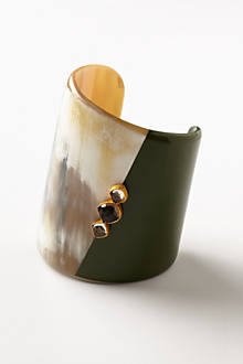 Colorblocked Horn Cuff