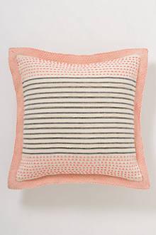 Stitch-Striped Pillow