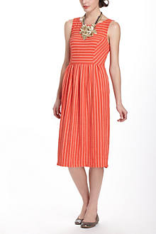 Retro Ribbon Midi Dress