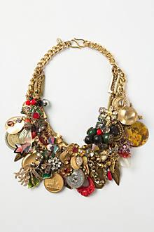 Keepsake Charm Bib Necklace