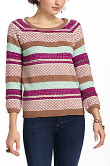 Striated Sparkle Sweater