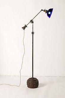 Cobalt Glass-Shade Lamp