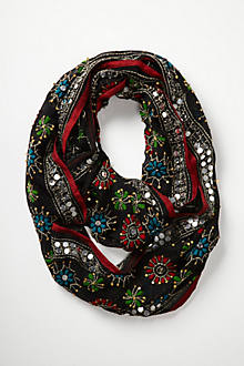 Embroidered Sungleam Infinity Scarf