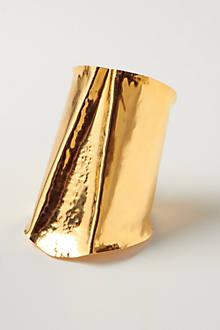 Hammer-Split Brass Cuff