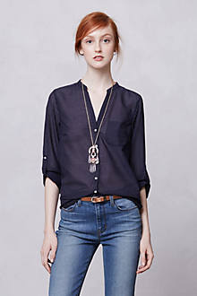 Indigo-Ruled Buttondown