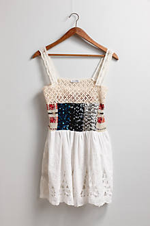 Sequined Smock Top