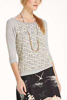 Lace Channel Sweatshirt