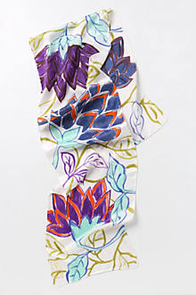 Japanese Floral Handpainted Scarf