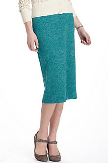 Burnout Lace Pencil Skirt