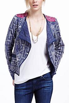 Floral Batik Drapey Jacket