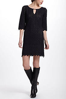 Lacedot Keyhole Dress
